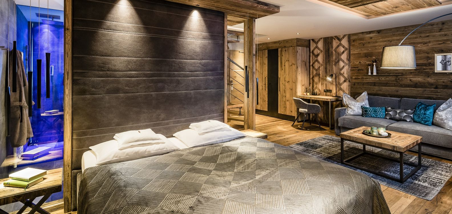 The Mountain Lodge Suite at Hotel Mesnerwirt in South Tyrol.