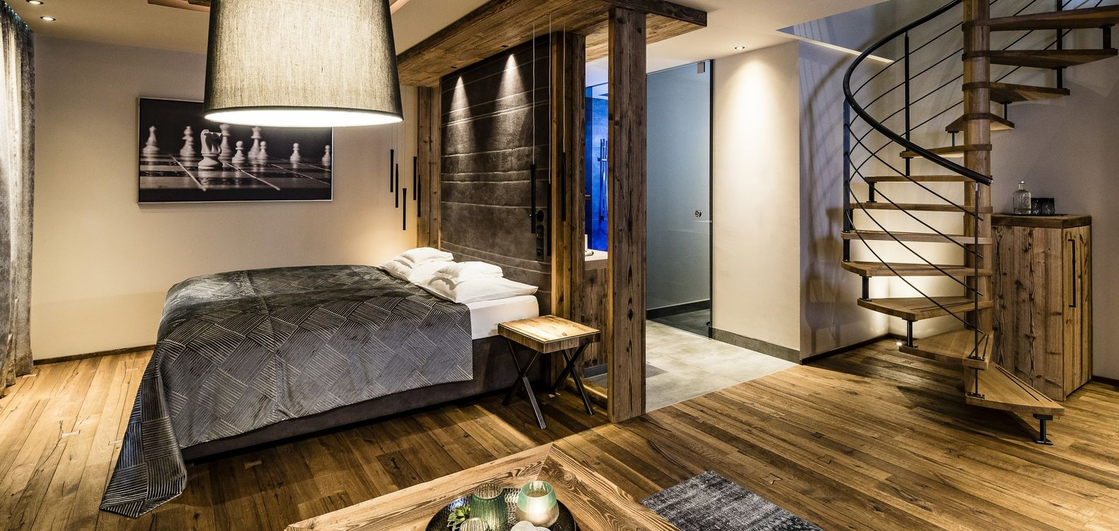 Suite Mountain Lodge at Hotel Mesnerwirt in South Tyrol.